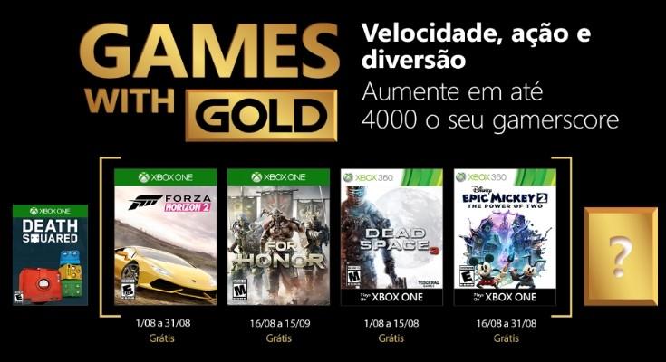 Games with Gold para Agosto de 2018