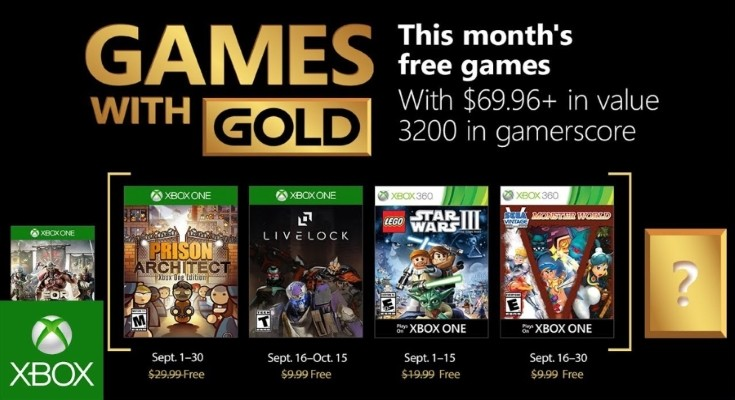 Games with Gold para Setembro de 2018