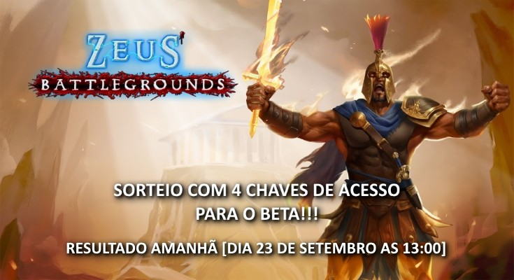 Sorteio de 4 Beta Keys de Zeus Battlegrounds - Mídia Digital para PC!