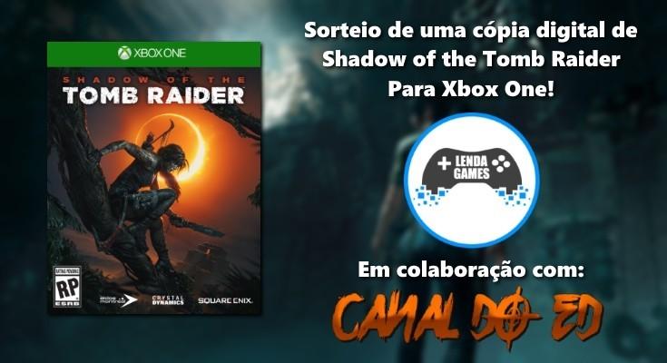 Sorteio de Shadow of the Tomb Raider - Midia Digital para Xbox One