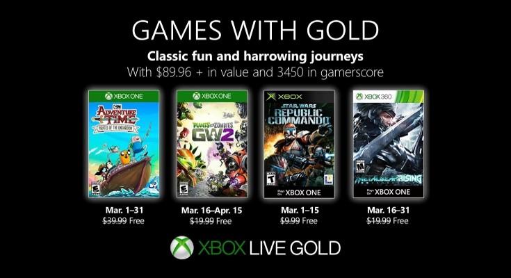 [Games with Gold] Março de 2019