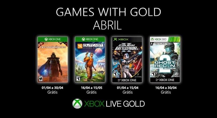 [Games with Gold] Abril de 2019