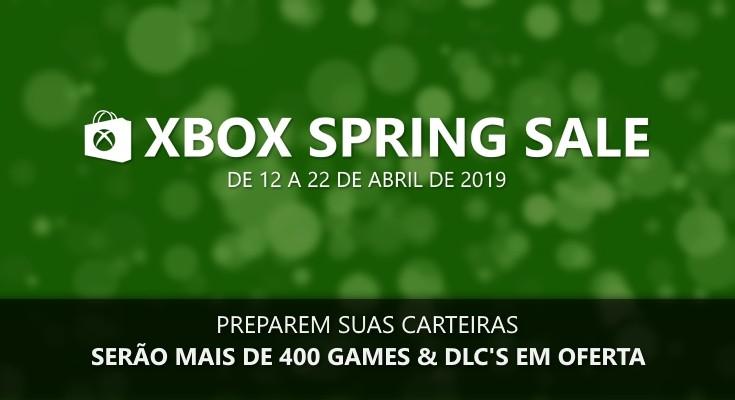 Spring Sale 2019 na Xbox Live acontece de 12 a 22 de Abril!