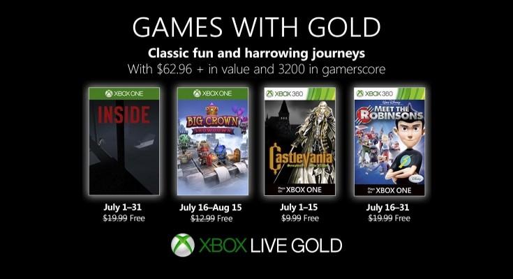 (GwG) Games with Gold - Jogos grátis em Julho de 2019 na Xbox Live!