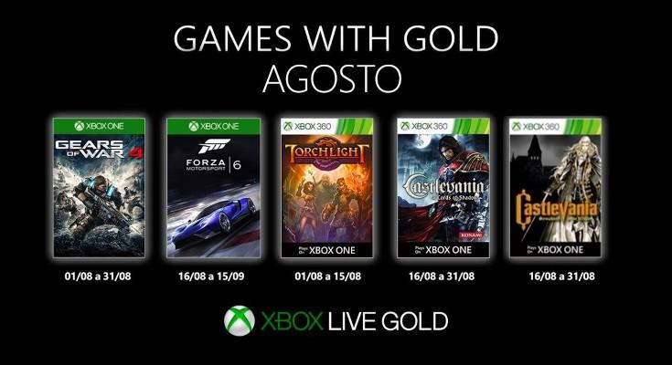 (GwG) Games with Gold - Jogos grátis em Agosto de 2019 na Xbox Live!