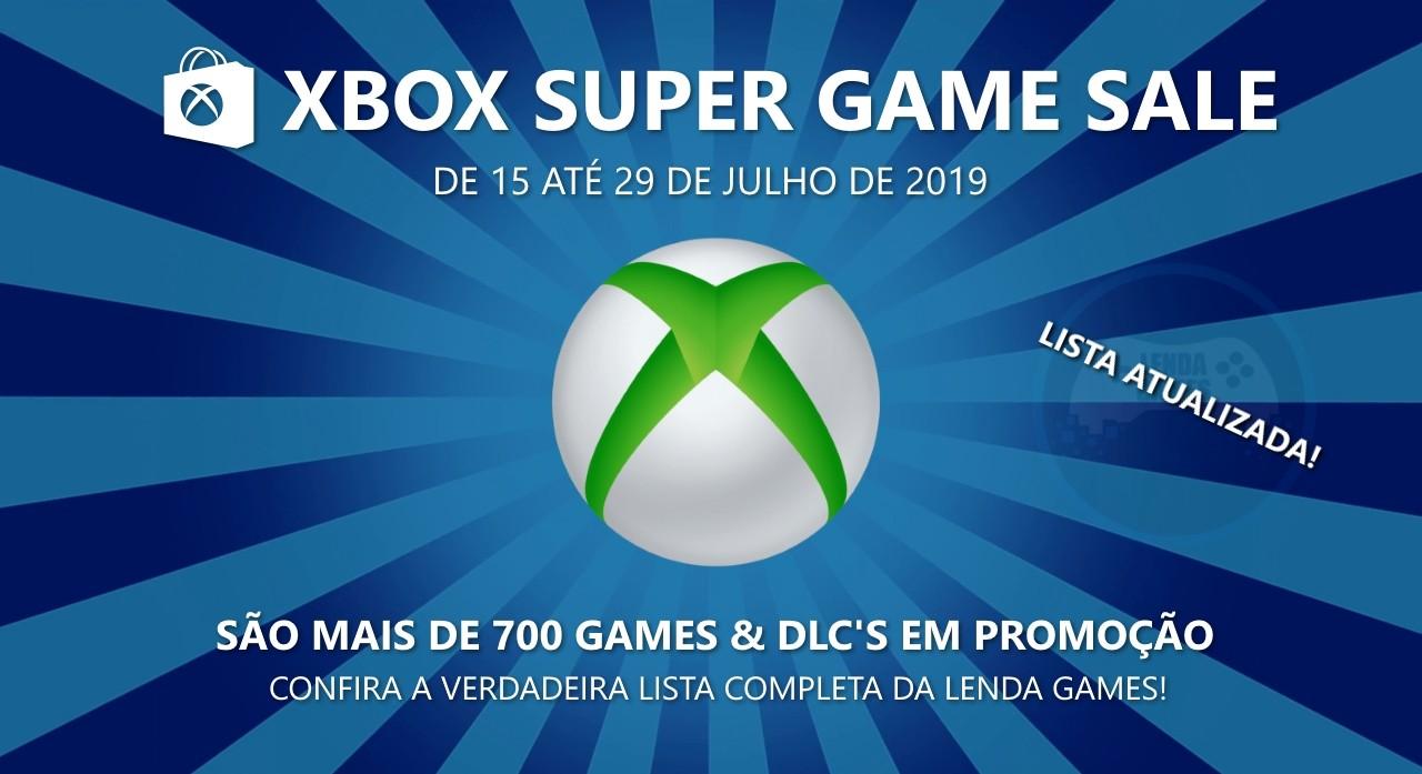 Xbox Super Game Sale 2019 - De 15 até 29 de julho de 2019 - Lenda Games!