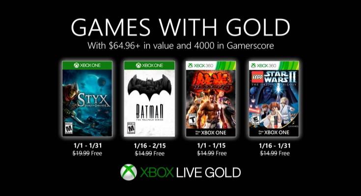 (GwG) Games with Gold - Jogos Grátis - Janeiro de 2020 na Xbox Live!