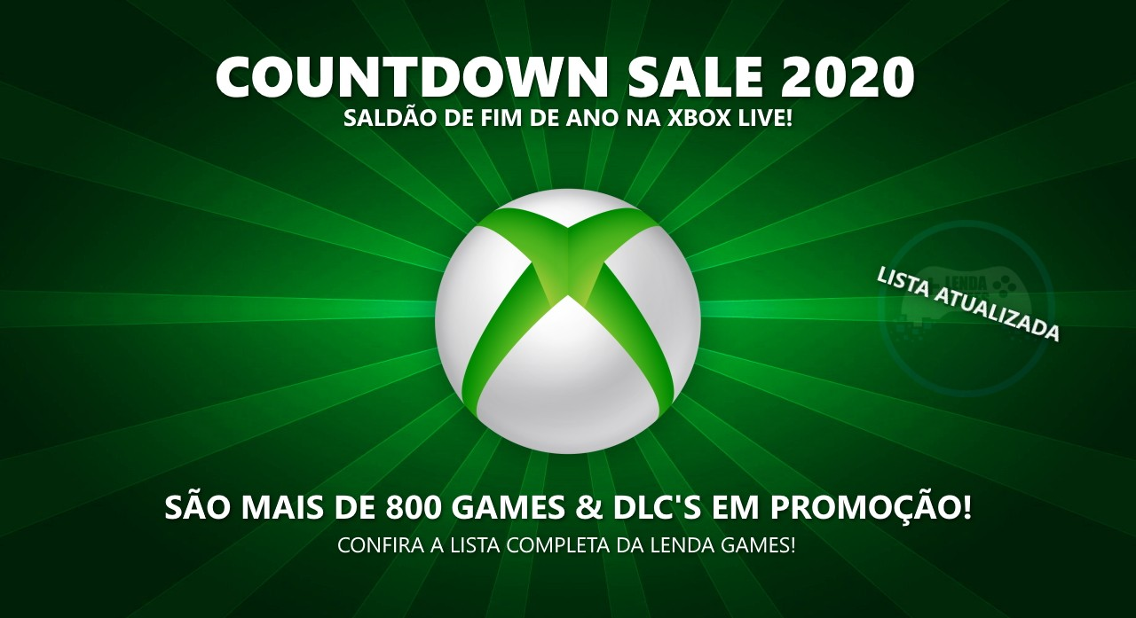 Xbox Live: Countdown Sale 2020 (Imagem de Reprodução)