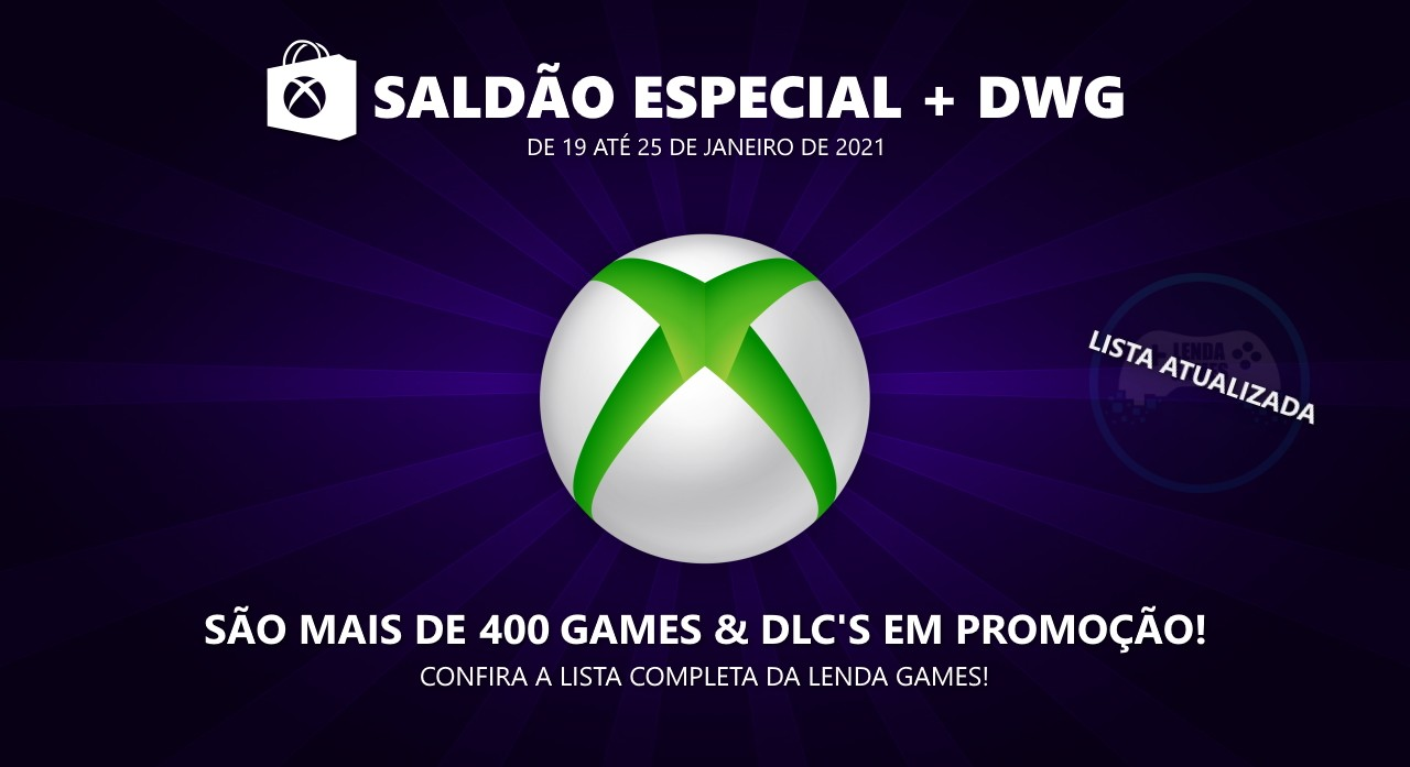 Saldão especial na Xbox Live + Deals with Gold até 25 de janeiro de 2021!