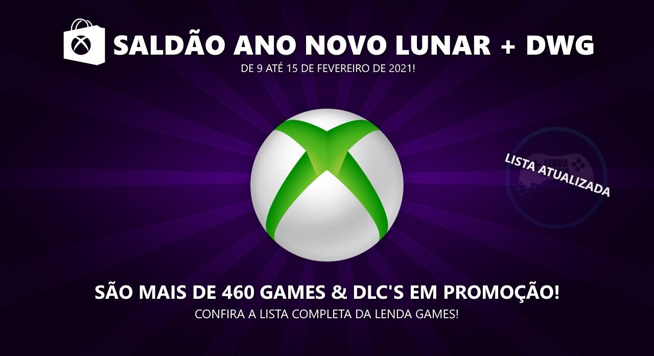 Xbox Live: Saldão Ano Novo Lunar + Deals with Gold até 15 de fevereiro de 2021!