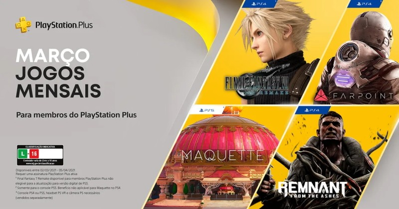 (PS Plus) PlayStation Plus: Jogos grátis em março de 2021!
