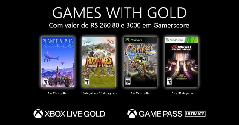 (GwG) Games with Gold: Jogos Grátis - Julho de 2021 na Xbox Live!