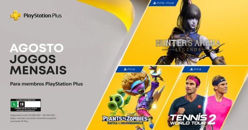 (PS Plus) PlayStation Plus: Jogos grátis em agosto de 2021!